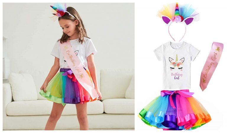 Unicorn Birthday Outfit 5 Year Old